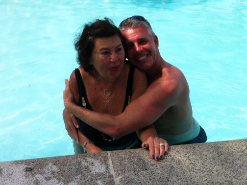 Hugs in the pool