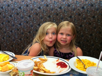 sisters having lunch