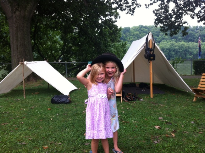 playing in tents