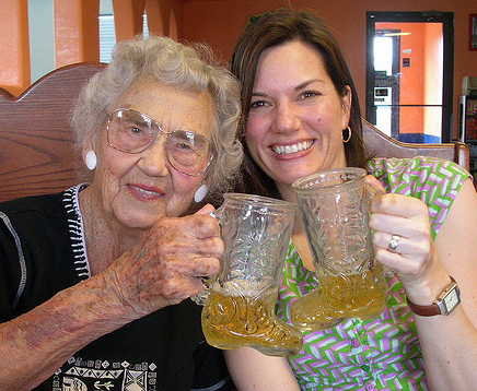 Cheers with your Aunt