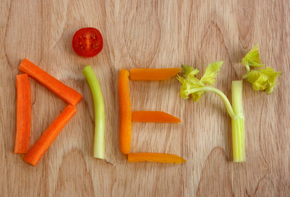 Diet spelled in veggies